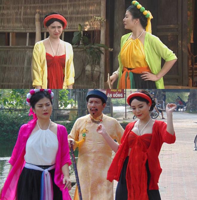 Nhìn lại loạt váy áo gợi cảm của mỹ nhân Việt diễn hài Tết - 12
