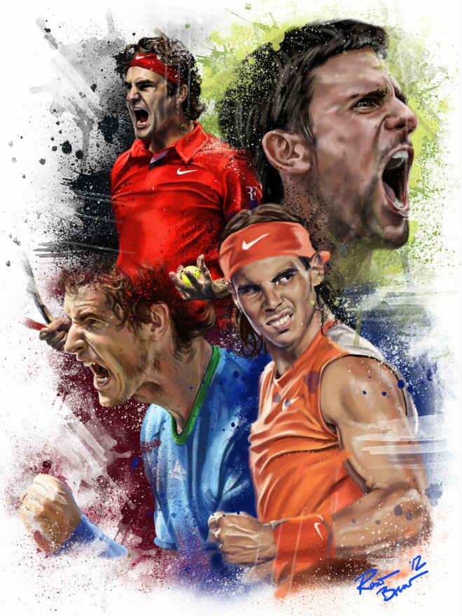 Tennis thế giới 2018: Federer - Nadal lo mất ngôi báu, Serena càn quét 1