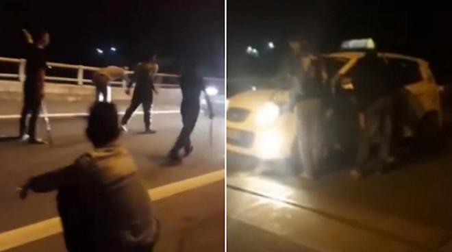 """Nóng 24h qua: 10 thanh niên vừa """"xin đểu"""" ô tô, vừa livestream trên cao tốc"""