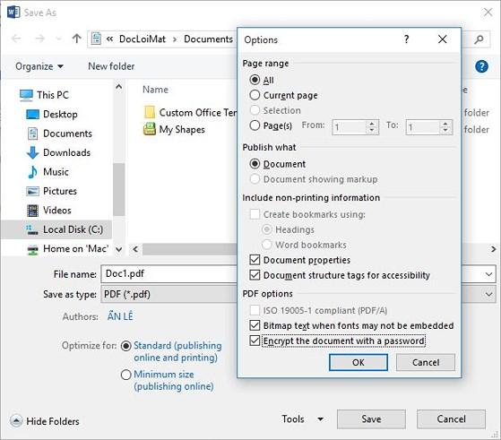 Cách đặt mật khẩu bảo vệ file PDF - 2