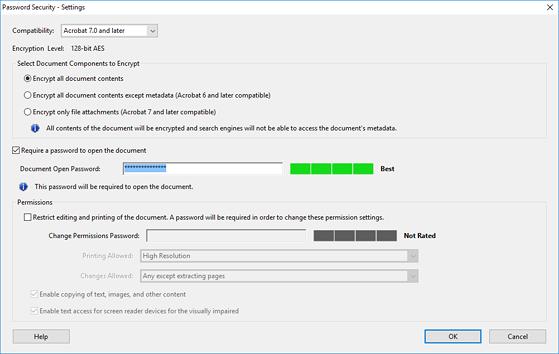 Cách đặt mật khẩu bảo vệ file PDF - 4