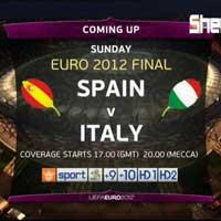 Chung kết Euro 2012: TBN - Ý