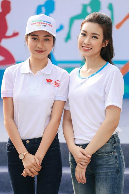 Hoa hậu Đỗ Mỹ Linh và Top 10 Kiều Vỹ rạng rỡ ở phố đi bộ Nguyễn Huệ - 1