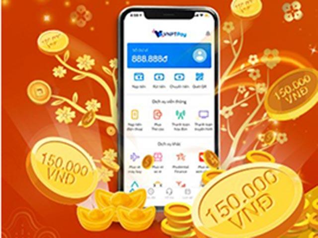 Xuân mang ưu đãi 150.000đ khi liên kết ví VNPT Pay- SeABank