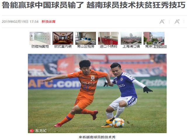 Hà Nội FC thua ngược CLB Trung Quốc: HLV Nghiêm tiếc nuối, báo châu Á khen Quang Hải