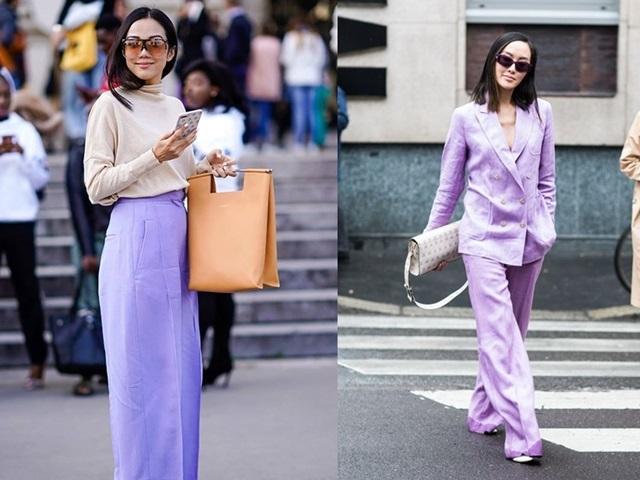 Cách dùng sắc tím mộng mơ khó mặc trong trang phục