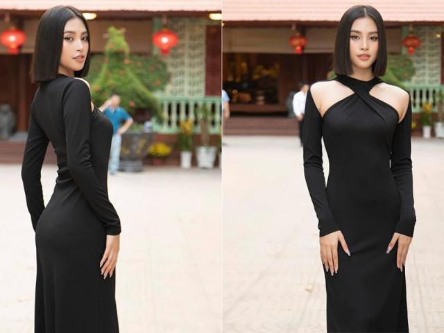 Diện đầm đen bó sát, Hoa hậu Tiểu Vy khoe đường cong uốn lượn ngày càng quyến rũ
