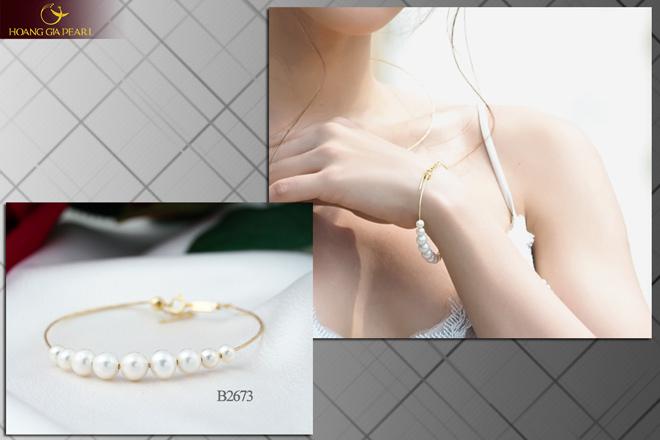 10 mẫu vòng tay ngọc trai dịu dàng cho phái đẹp - 1