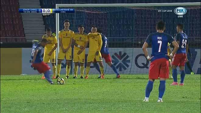 Johor Darul vs SLNA: vòng bảng AFC Cup 2018