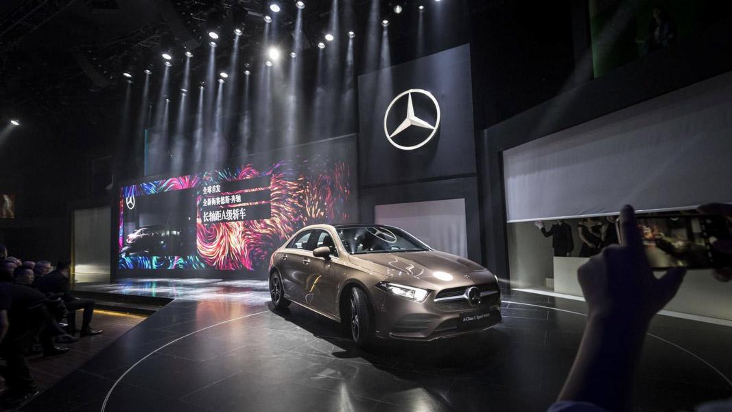 Mercedes-Benz A-Class Sedan 2019 phiên bản trục cơ sở dài ra mắt - 1
