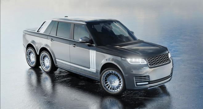 """SUV siêu sang Range Rover hoá thân thành """"bán tải sáu bánh"""" - 3"""