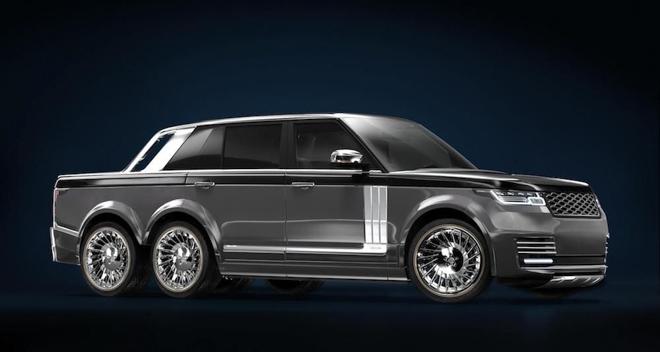 """SUV siêu sang Range Rover hoá thân thành """"bán tải sáu bánh"""" - 6"""