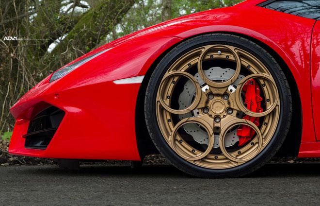 Lamborghini Huracan nổi bật với lớp sơn Rosso Mars và bộ mâm hàng hiệu ADV.1 - 6