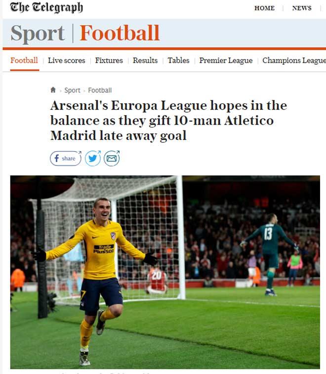"""Arsenal """"rơi vàng"""" trước Atletico: Báo Anh chê """"ngây thơ như ngày nào"""" - 2"""