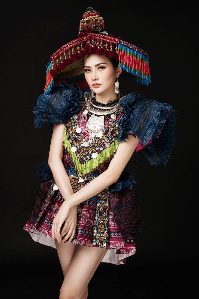 """Bộ đồ """"Sơn nữ H'Mông"""" tại Nữ hoàng Du lịch Quốc tế - 1"""