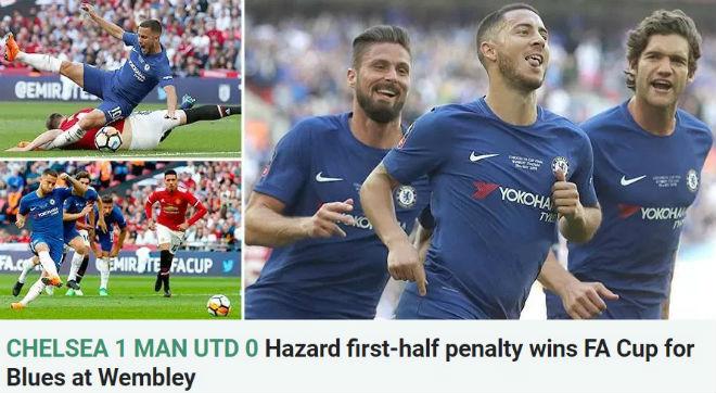 Chelsea vô địch FA Cup: Báo chí đoán Conte bay ghế, Hazard đến Real - 3