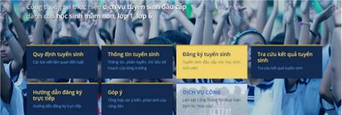 Hướng dẫn cách đăng ký thử nghiệm tuyển sinh trực tuyến vào lớp 6 tại Hà Nội - 1