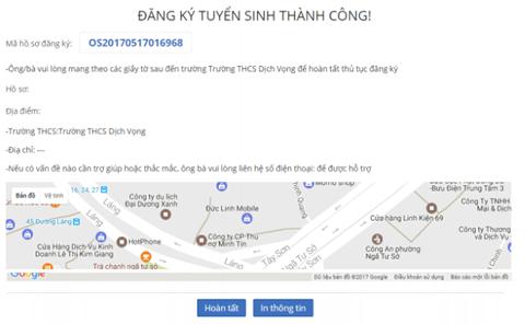 Hướng dẫn cách đăng ký thử nghiệm tuyển sinh trực tuyến vào lớp 6 tại Hà Nội - 5