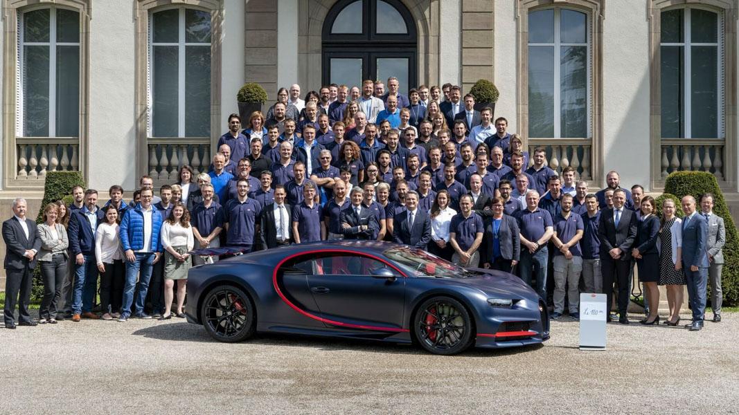 Siêu xe đắt giá - Bugatti Chiron thứ 100 xuất xưởng - 1