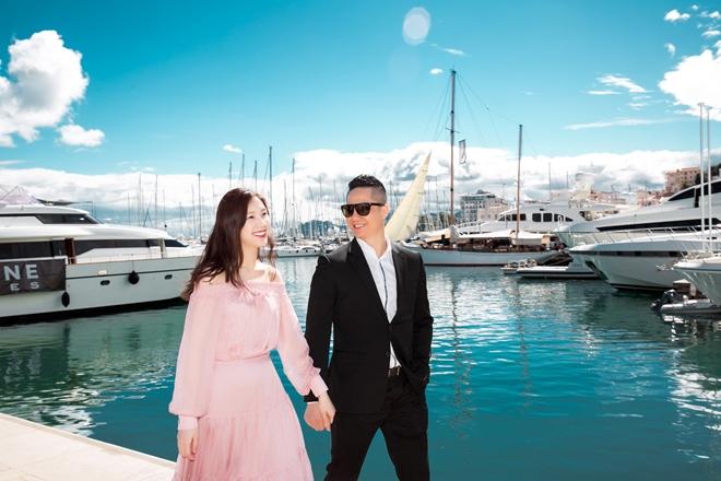 Phí Thùy Linh tình tứ với chồng doanh nhân ở Pháp - 6