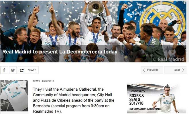TRỰC TIẾP Real Madrid ăn mừng 13 cúp C1: Ramos oai hùng ôm cúp về Bernabeu - 3