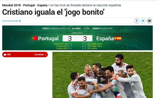 Bồ Đào Nha – Tây Ban Nha viết kinh điển World Cup: Báo quốc tế ngả mũ vì Ronaldo