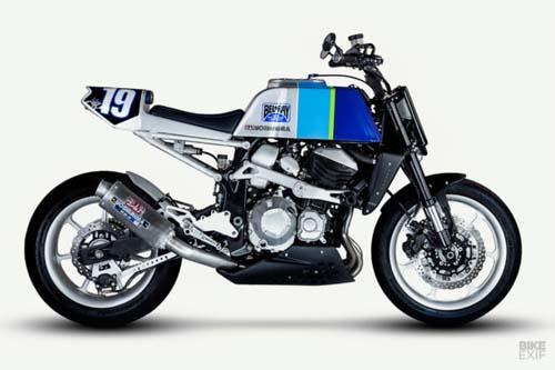 Kawasaki Z800 độ flat track, mang đậm chất phong cách thập niên 80 - 5