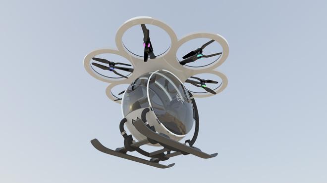 Xem kỹ sư 8X lái trực thăng tự chế bay lượn trên bầu trời - 6