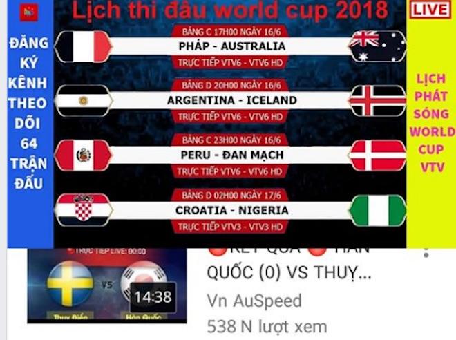 """VTV: """"Ngay lúc này, World Cup 2018 có thể biến mất khỏi các màn hình to, nhỏ"""" - 2"""