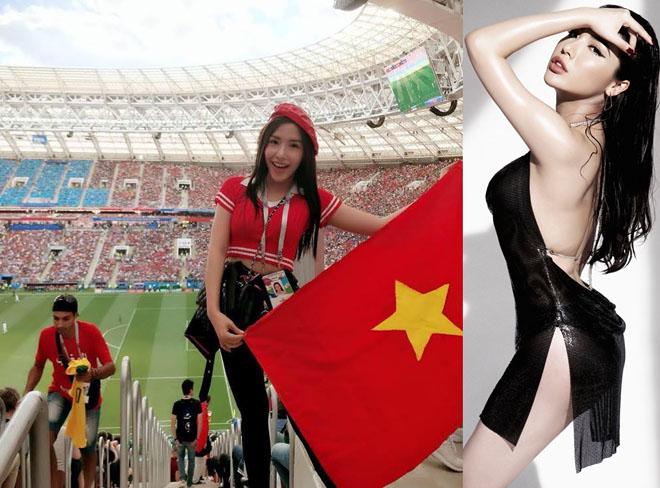 Á hậu Biển chi 90 triệu đồng sang Nga xem CR7 đá World Cup