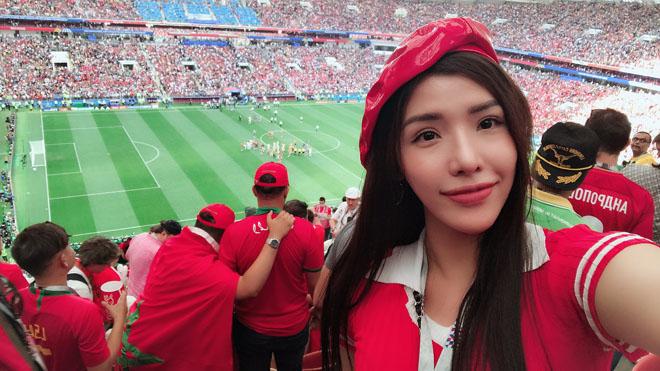 Á hậu Biển chi 90 triệu đồng sang Nga xem CR7 đá World Cup - 2