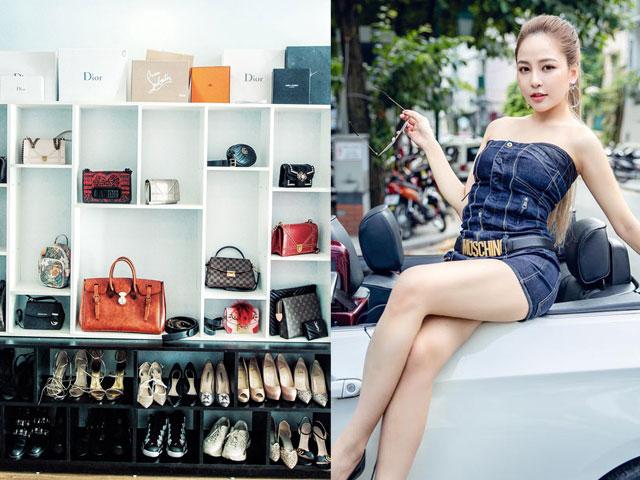Tủ đồ hàng hiệu của hot girl Trâm Anh khiến dân mạng bàn tán
