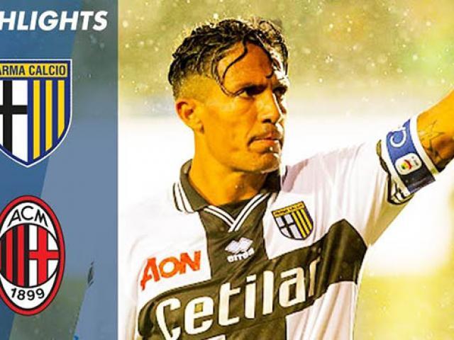 Parma – AC Milan: Tuyệt tác đá phạt lung lay mộng cúp C1