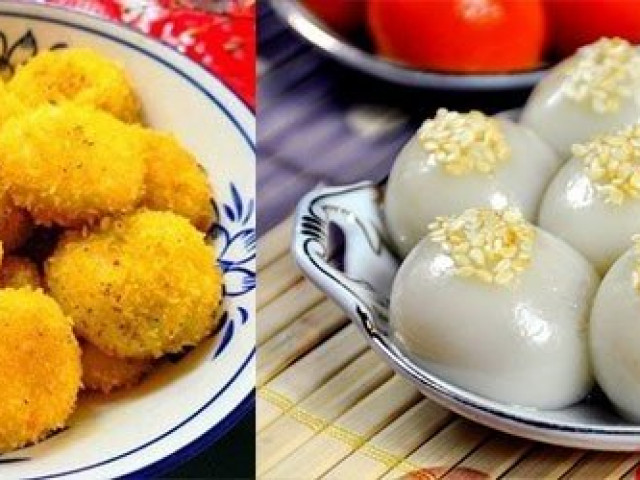 Biến tấu bánh trôi chiên, bánh trôi nhân dừa tươi cho Tết Hàn thực