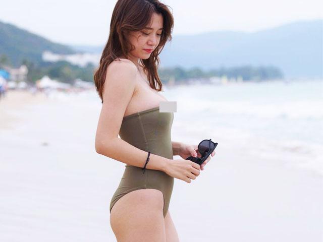 """Ham bikini quây, cô gái thiếu may mắn bị tụt áo, thành nạn nhân của """"thảm họa bãi biển"""""""