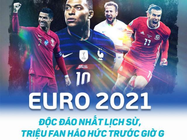 EURO 2021 độc đáo nhất lịch sử, triệu fan háo hức trước giờ G