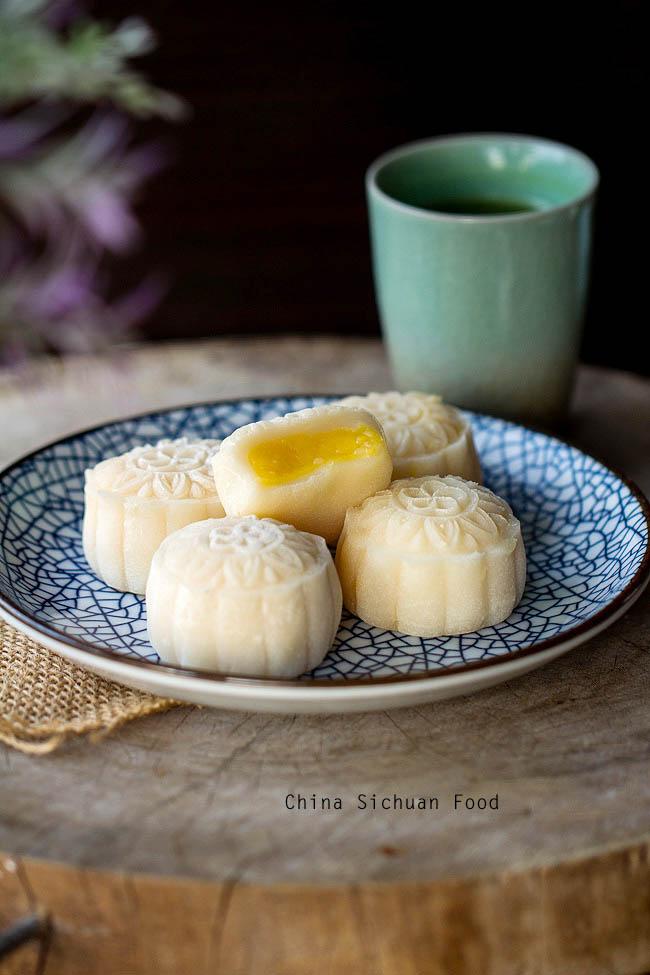 Tự làm bánh dẻo nhân kem trứng đón Trung thu - 1