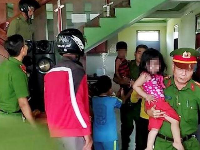 """Phút cân não giải cứu 3 đứa trẻ bị bố ép """"chết chung"""""""