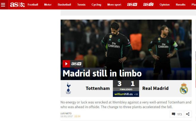 """Real """"tan nát"""" trước Tottenham: Báo Anh ngây ngất, an ủi Ronaldo - 2"""