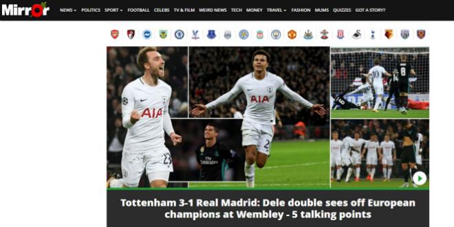 """Real """"tan nát"""" trước Tottenham: Báo Anh ngây ngất, an ủi Ronaldo - 5"""