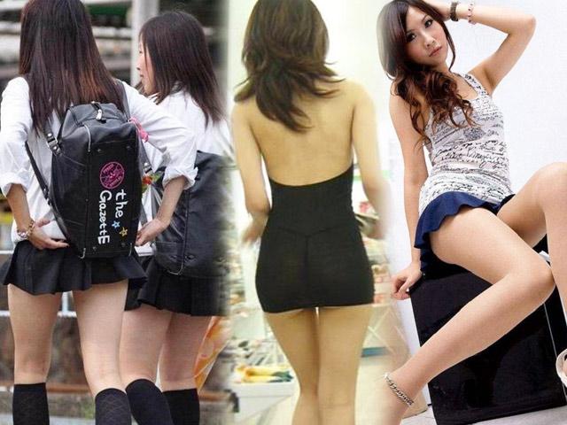 Váy ngắn chẳng tày gang của con gái châu Á