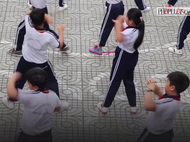 Thú vị với màn học sinh tập thể dục bằng nhạc võ Vovinam
