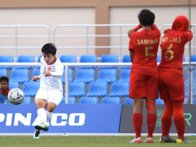 Video highlight trận Nữ Việt Nam - Nữ Indonesia: Tưng bừng 6 bàn, bán kết thẳng tiến
